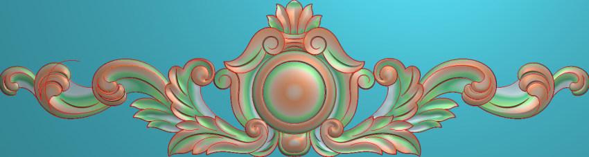 欧式三角花图JDP格式横图浮雕外墙装饰花洋花系列柜门花SH012插图