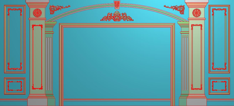 欧式横图JDP格式背景墙系列BJ0034插图