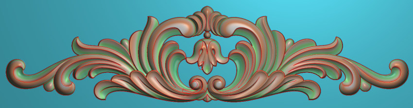 欧式三角花图JDP格式横图浮雕外墙装饰花洋花系列柜门花SH0245插图