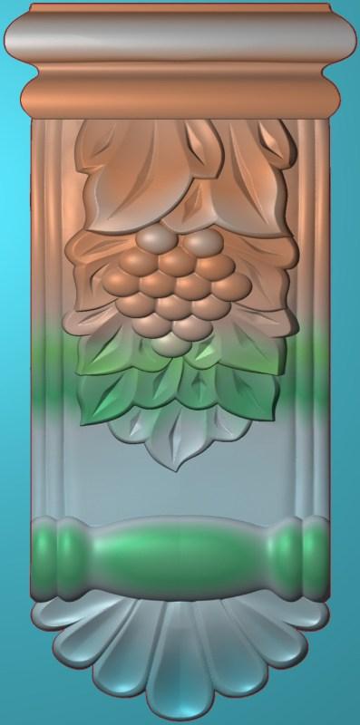 欧式竖图JDP格式罗马柱头柱体系列ZB043插图