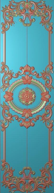 欧式竖图JDP格式雕刻雕花护墙板系列HQ00114插图