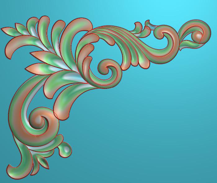 欧式横图JDP格式植物角花系列JH0105插图