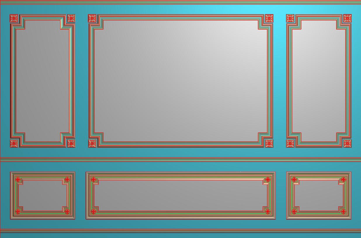 欧式横图JDP格式背景墙系列BJ0048插图