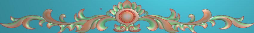 欧式三角花图JDP格式横图浮雕外墙装饰花洋花系列柜门花SH0142插图