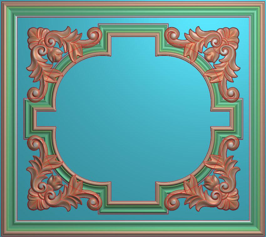 欧式横图JDP格式贴花方块花洋花系列罗马柱头贴片FH043插图