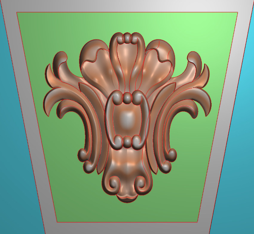 欧式正方图JDP格式罗马柱头系列ZB060插图