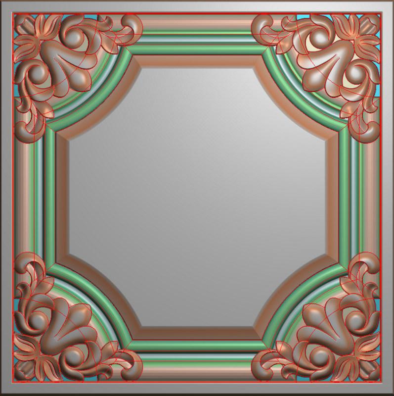 欧式正方图JDP格式贴花方块花洋花系列罗马柱头贴片FH080插图