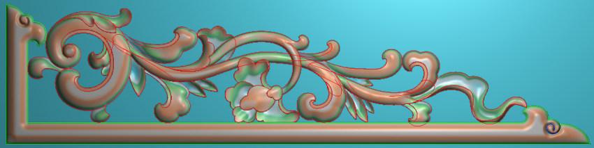 欧式横图JDP格式植物角花系列JH0111插图