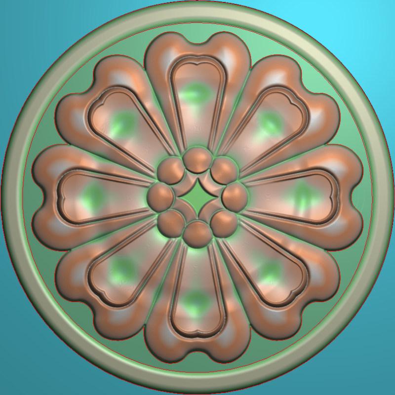 欧式圆花图JDP格式贴花门上花洋花系列罗马柱头贴片YH0037插图