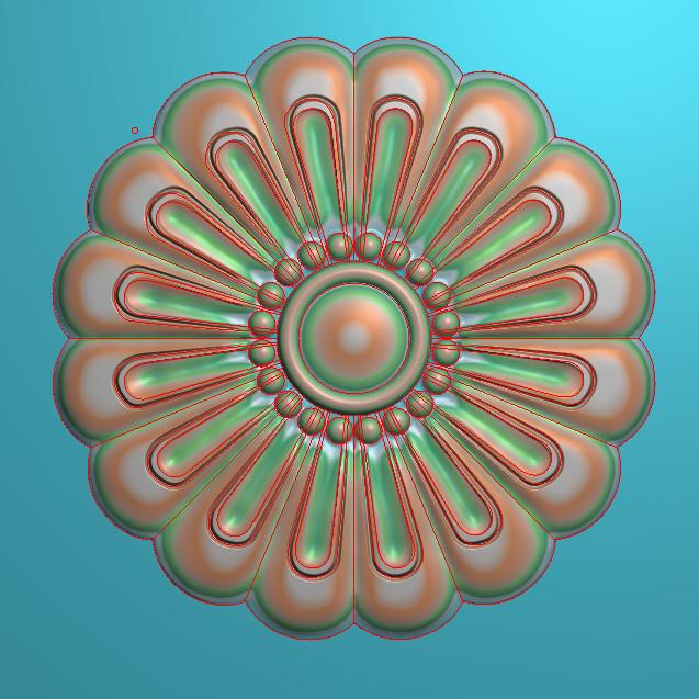 欧式圆花图JDP格式贴花门上花洋花系列罗马柱头贴片YH00103插图