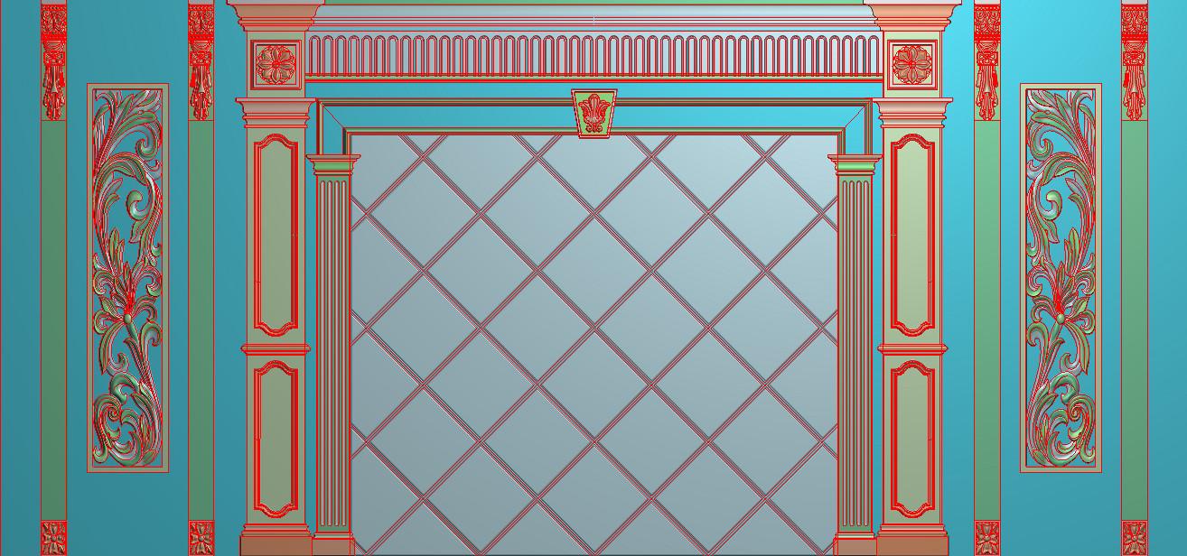 欧式横图JDP格式背景墙系列BJ0029插图