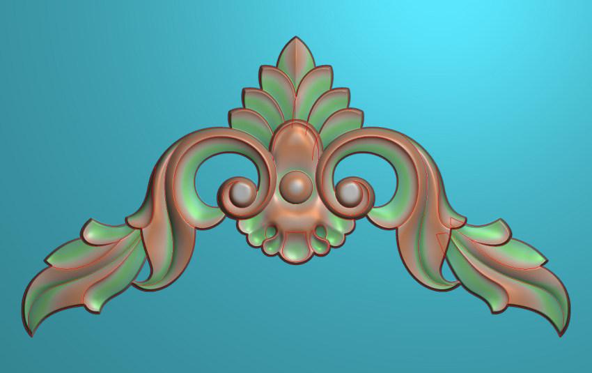 欧式三角花图JDP格式横图浮雕外墙装饰花洋花系列柜门花SH0182插图