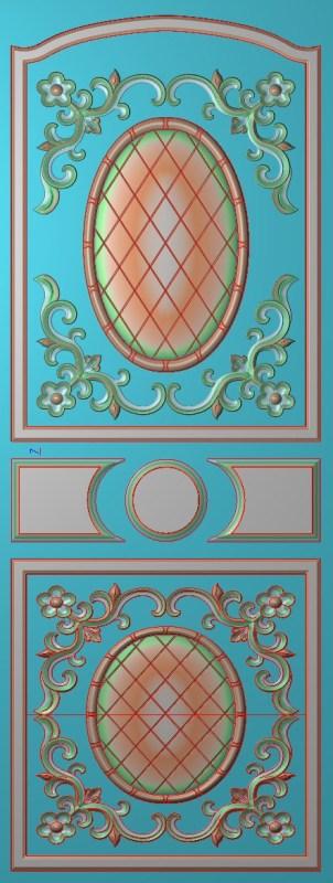 欧式竖图JDP格式雕刻雕花护墙板系列HQ00105插图