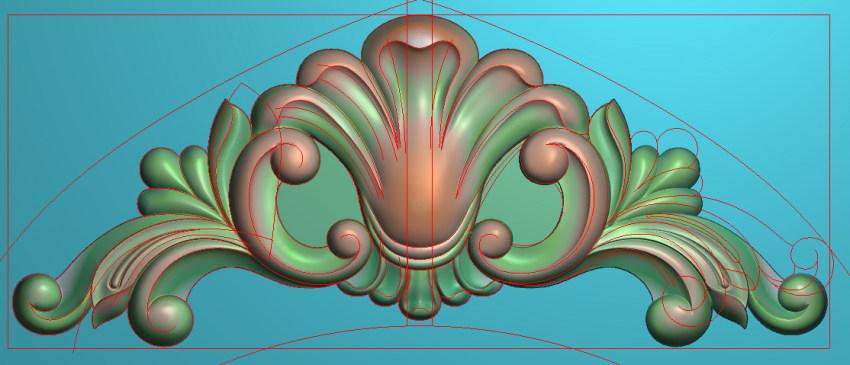 欧式三角花图JDP格式横图浮雕外墙装饰花洋花系列柜门花SH053插图