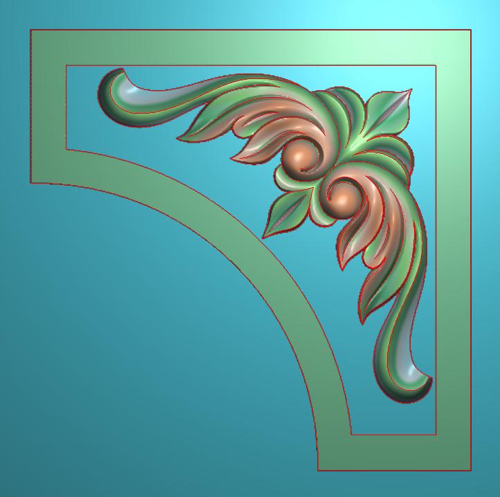 欧式正方图JDP格式植物角花系列JH034插图