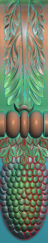 欧式竖图JDP格式罗马柱头柱体系列ZB048插图
