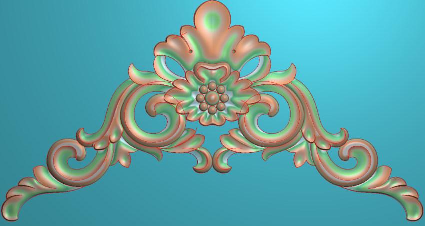 欧式三角花图JDP格式横图浮雕外墙装饰花洋花系列柜门花SH0181插图