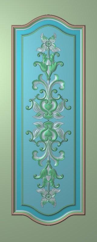 欧式竖图JDP格式雕刻雕花护墙板系列HQ00107插图