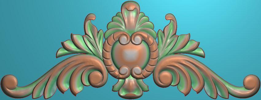 欧式三角花图JDP格式横图浮雕外墙装饰花洋花系列柜门花SH0234插图