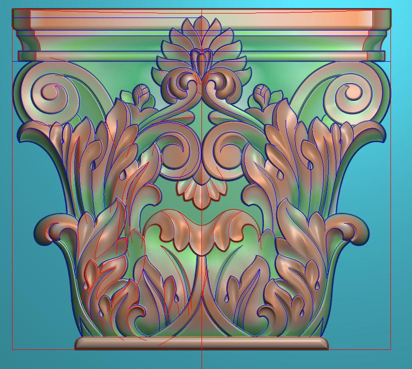 欧式正方图JDP格式罗马柱头系列ZB016插图