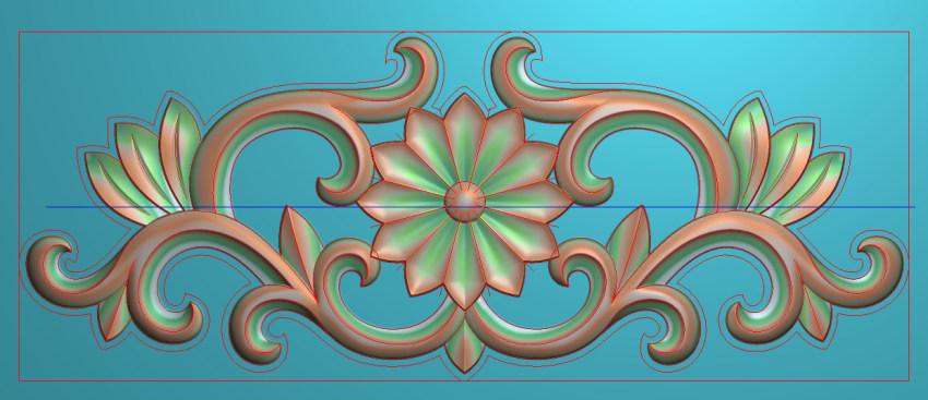 欧式三角花图JDP格式横图浮雕外墙装饰花洋花系列柜门花SH035插图