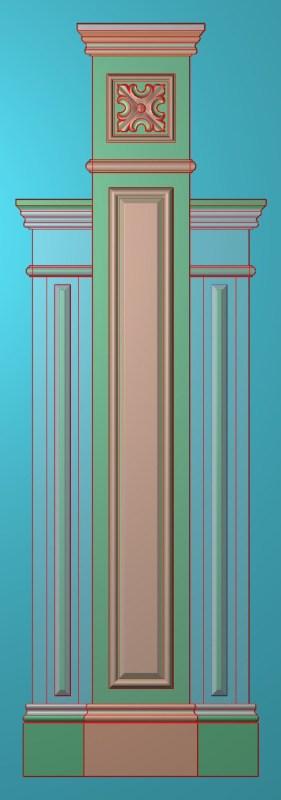 欧式竖图JDP格式罗马柱柱体系列ZB0116插图