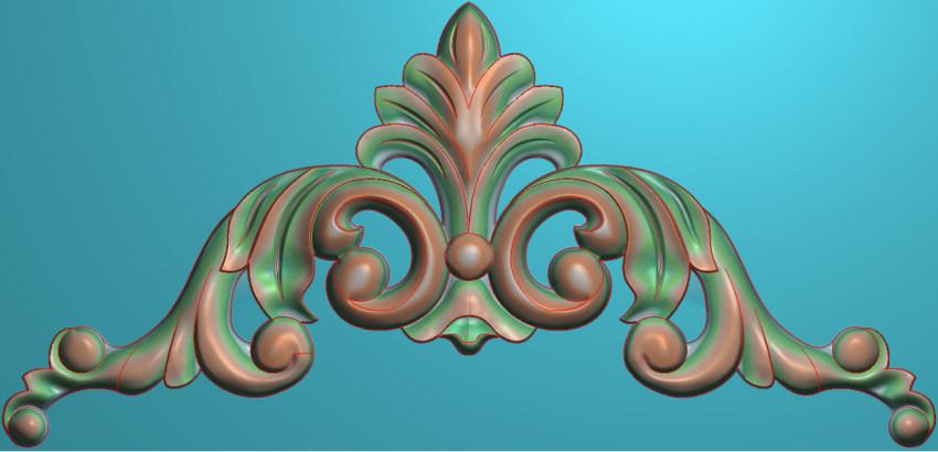 欧式三角花图JDP格式横图浮雕外墙装饰花洋花系列柜门花SH003插图