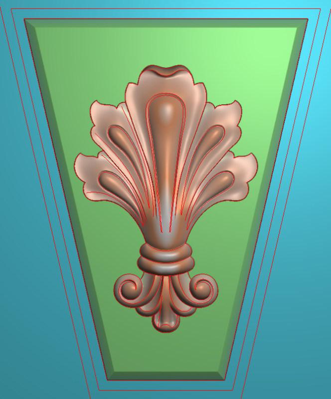 欧式竖图JDP格式罗马柱头系列ZB065插图