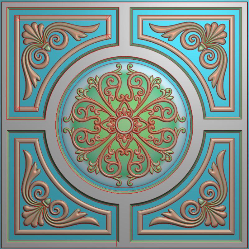 欧式正方图JDP格式贴花方块花洋花系列罗马柱头贴片FH0113插图