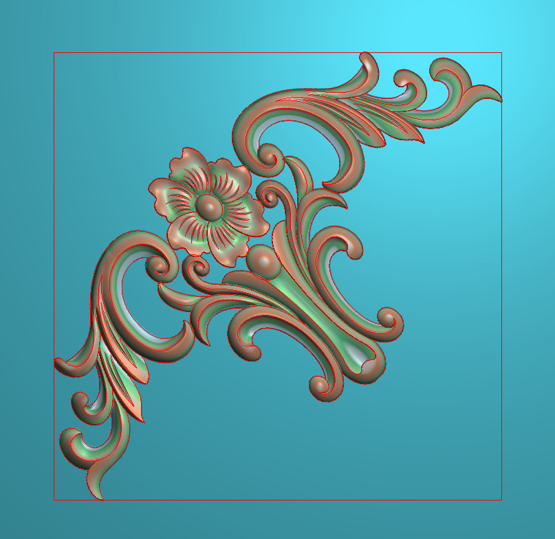 欧式正方图JDP格式植物角花系列JH089插图