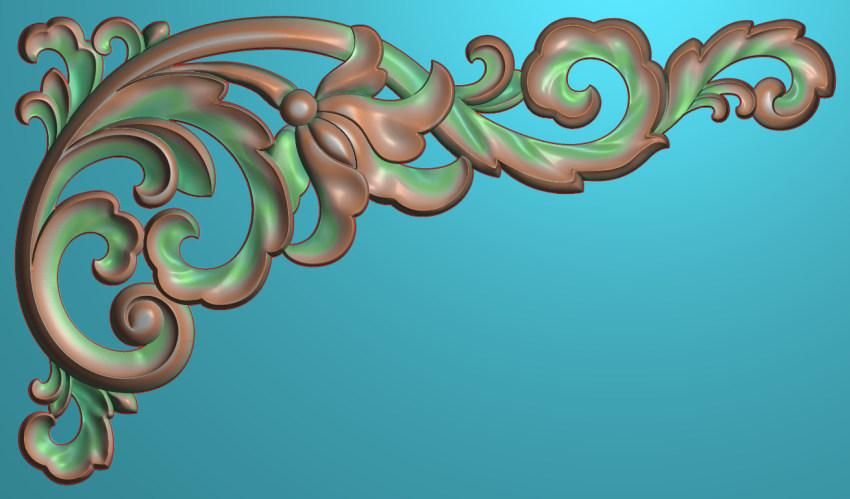欧式横图JDP格式植物角花系列JH017插图