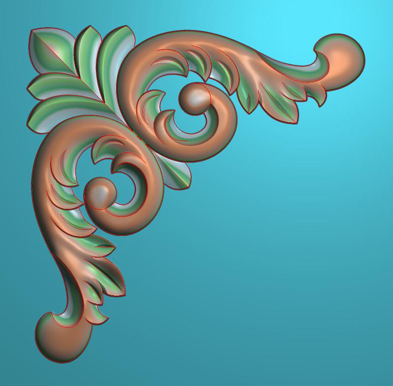 欧式正方图JDP格式植物角花系列JH084插图