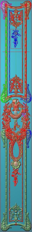 欧式竖图JDP格式雕刻雕花护墙板系列HQ00117插图