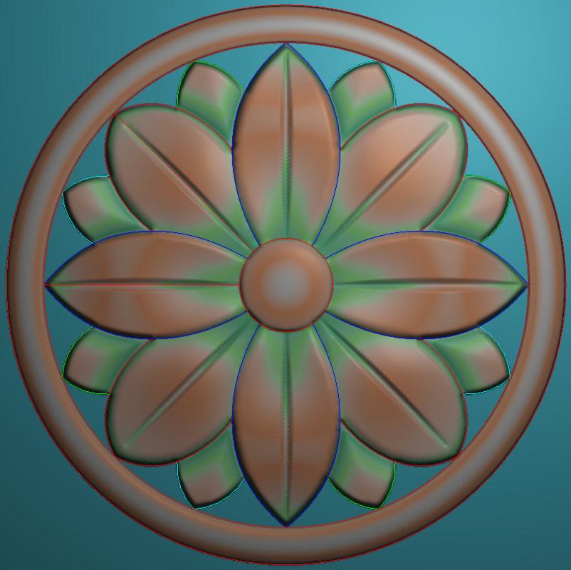 欧式圆花图JDP格式贴花门上花洋花系列罗马柱头贴片YH0069插图