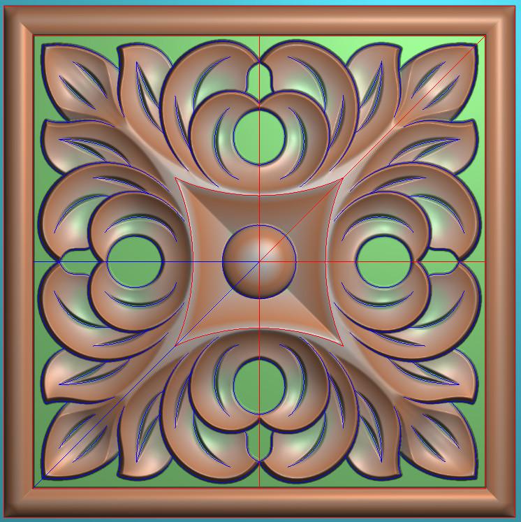 欧式正方图JDP格式贴花方块花洋花系列罗马柱头贴片FH0111插图