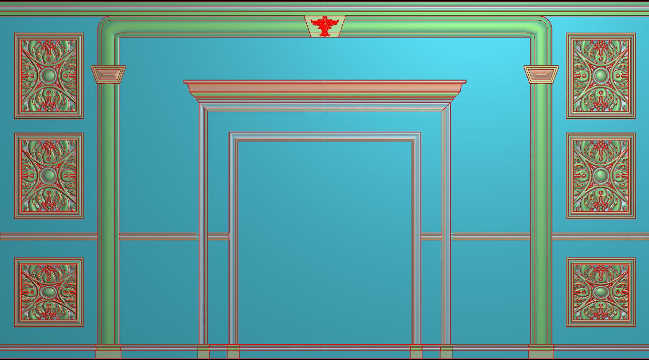 欧式横图JDP格式背景墙系列BJ0040插图