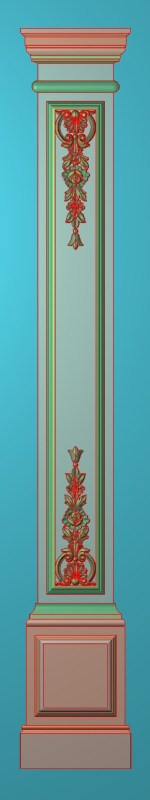 欧式竖图JDP格式罗马柱柱体系列ZB076插图