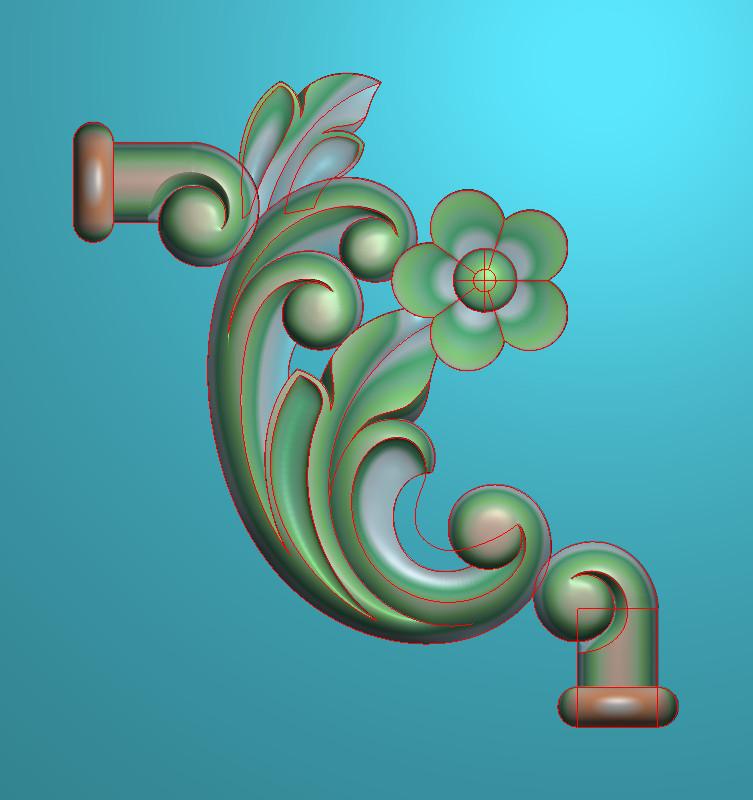 欧式竖图JDP格式植物角花系列JH0165插图