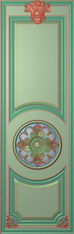 欧式竖图JDP格式雕刻雕花护墙板系列HQ0074插图