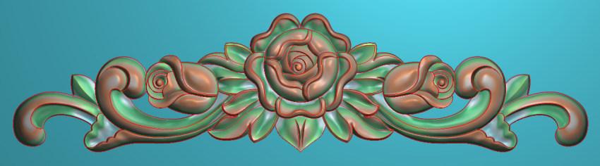 欧式三角花图JDP格式横图浮雕外墙装饰花洋花系列柜门花SH036插图