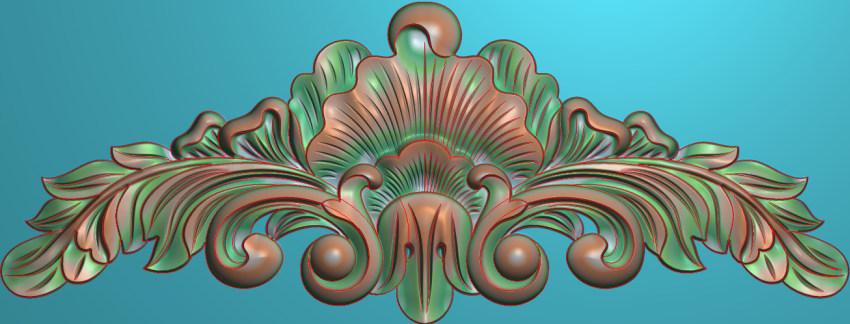 欧式三角花图JDP格式横图浮雕外墙装饰花洋花系列柜门花SH080插图