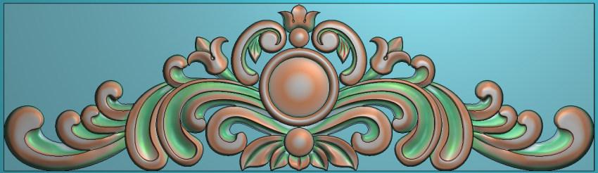 欧式三角花图JDP格式横图浮雕外墙装饰花洋花系列柜门花SH011插图