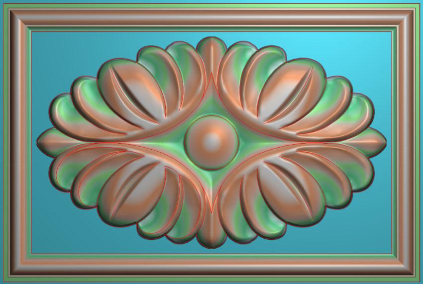 欧式横图JDP格式贴花方块花洋花系列罗马柱头贴片FH051插图