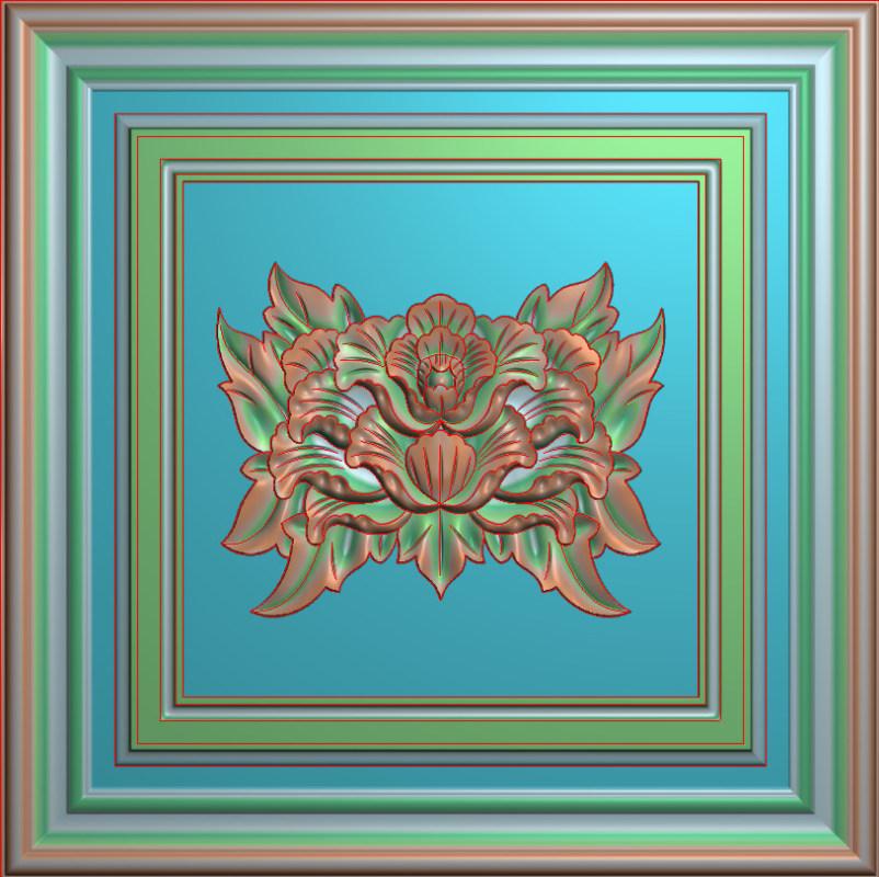 欧式正方图JDP格式贴花方块花洋花系列罗马柱头贴片FH038插图