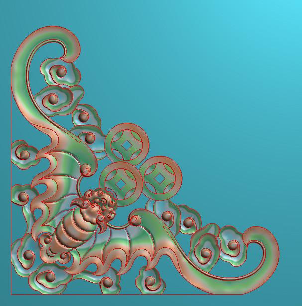 欧式正方图JDP格式植物角花系列JH0137插图