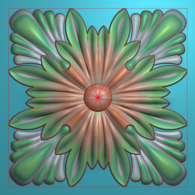 欧式正方图JDP格式贴花方块花洋花系列罗马柱头贴片FH023插图