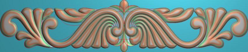 欧式三角花图JDP格式横图浮雕外墙装饰花洋花系列柜门花SH0120插图