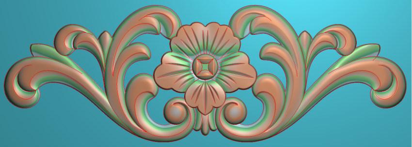 欧式三角花图JDP格式横图浮雕外墙装饰花洋花系列柜门花SH0175插图