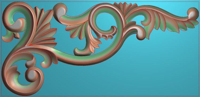欧式横图JDP格式植物角花系列JH0251插图