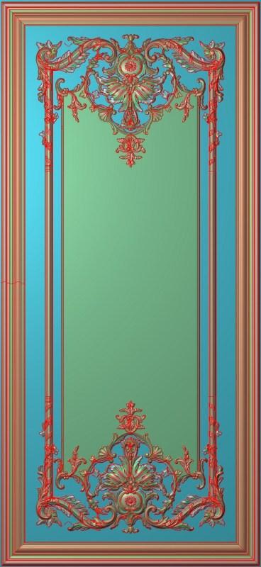 欧式竖图JDP格式雕刻雕花护墙板系列HQ0054插图